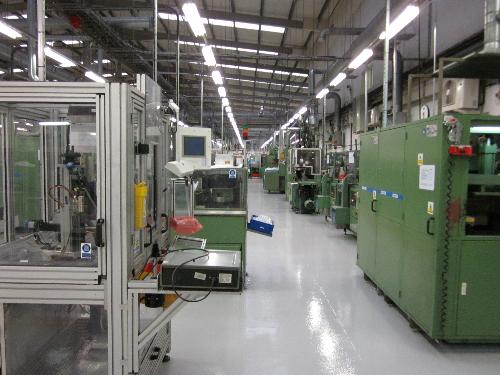 Industrial factory floor painting North East England