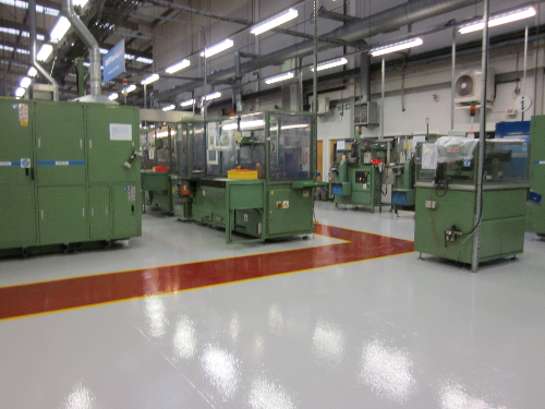 Industrial epoxy factory floor painting Northumberland