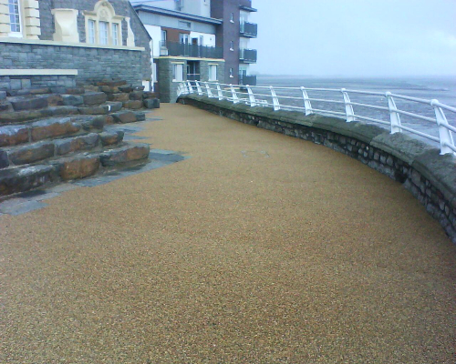 Permeable resin bound surfacing