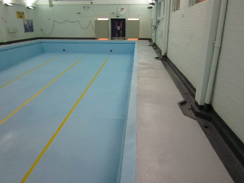 Swimming pool coatings water containment North East