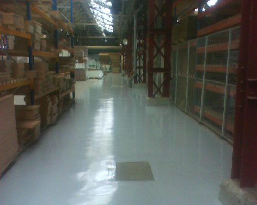 Industrial resin floor screeds Newcastle Upon Tyne