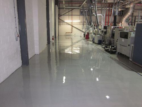 Flowable epoxy antistatic flooring County Durham
