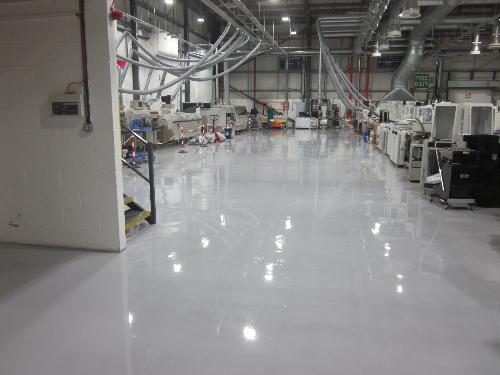 Seamless industrial epoxy flooring North East England