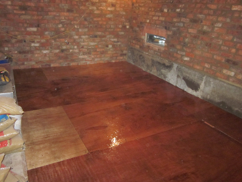 Solacir microscreed applied to timber substrate