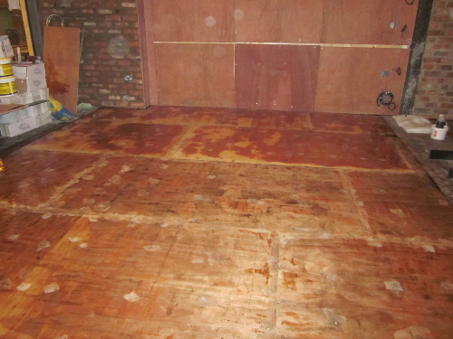 Timber substrate before Solacir microscreed installed