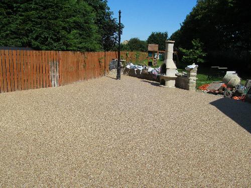 Exterior resin flooring gravel paving screeds Durham