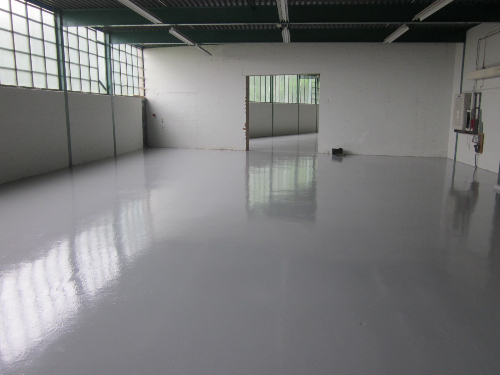 High Build epoxy coating applied to primed floor