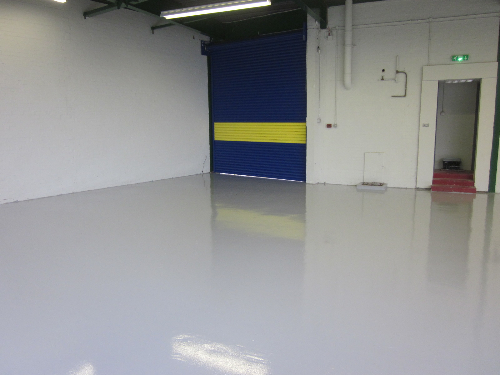 Factory floor painting Sunderland Tyne and Wear