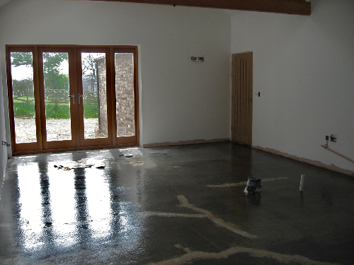 Concrete substrate prior to installation North East