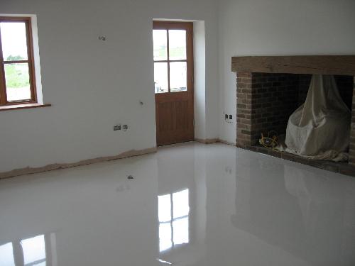 Modern resin interiors minimilistic resin flooring
