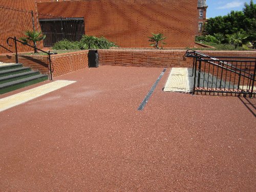 Resin bound surfacing Hartlepool civic centre