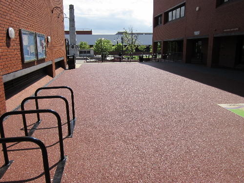 Resin paving Hartlepool town centre