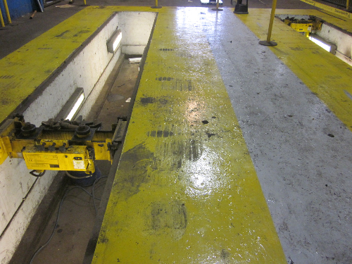 Line demarcation using epoxy coatings in Durham