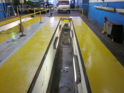 Surface of floor afeter removal of oil contamination