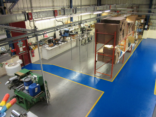 County Durham Factory Floor Painting North East England