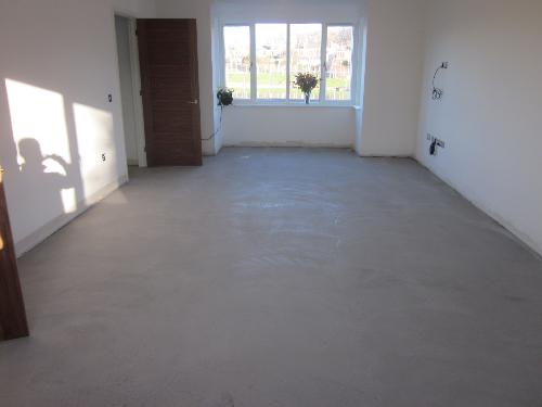 Micro screed flooring living room County Durham