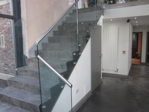 Microscreed staircase installation Carlisle Cumbria