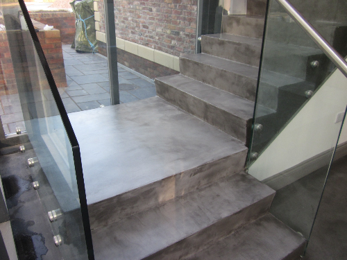 Solacir microcreed applied to staircase in Carlisle