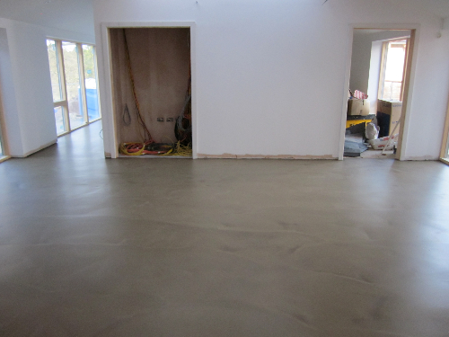 Microscreed floors residential installation Newcastle