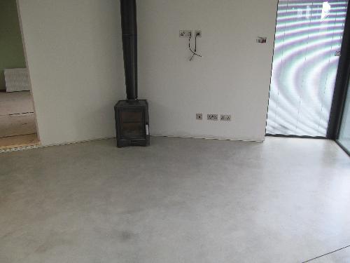 Micro screed waxed concrete flooring Newcastle