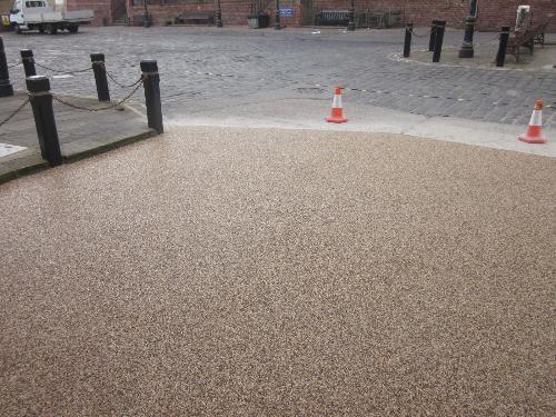Resin bound gravel surface Rags Hotel Bridlington