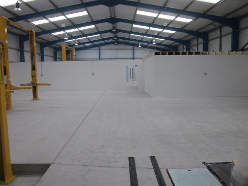 Dust free concrete floor preparation North East England