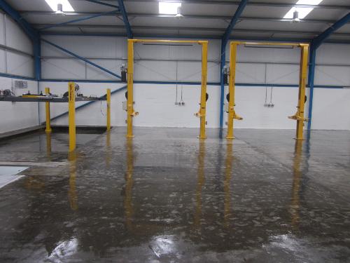Clear epoxy floor primer garage floor North East