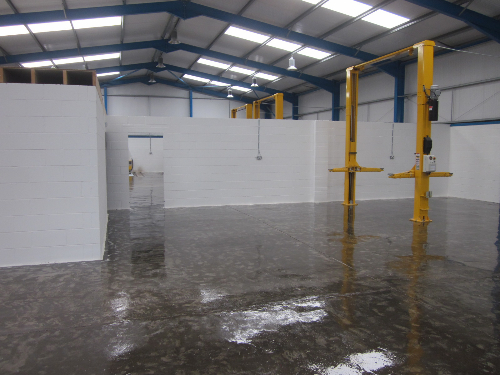 Epoxy resin primer applied to prepared substrate Redcar