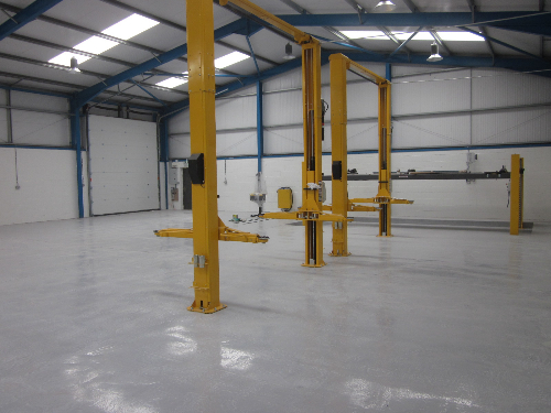 Epoxy resin flooring coatings paint North East England