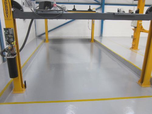 Industrial floor coatings screeds paints North East