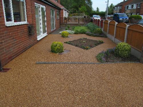 Resin exteriors gravel floor screeds Seaburn Sunderland