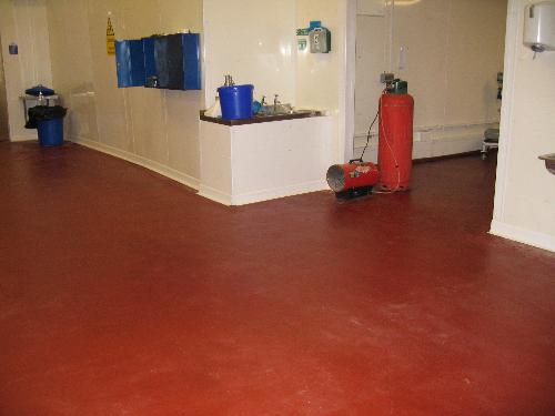 Seamless industrial resin flooring Sunderland
