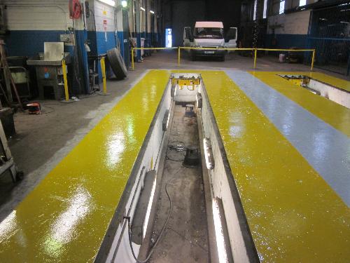 Garage resin flooring County Durham
