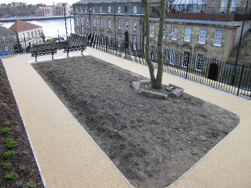 Resin bound pathway surface North Shields Tyneside