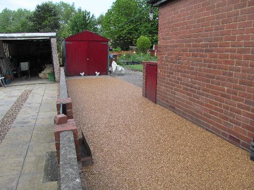 Resin exteriors gravel floor screed Ryhope Sunderland