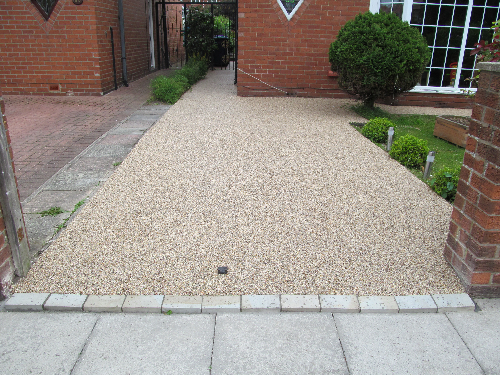 Gravel floor screeds exterior resin flooring Newcastle
