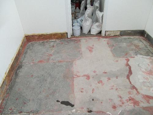 Before installation of polyurethane screed Cramlington