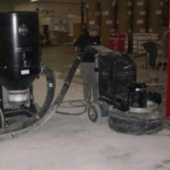 Dust free concrete floor grinding North East England