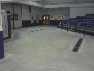 Prepared concrete substrate prior to installation