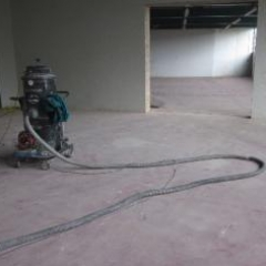 Surface preparation before application of epoxy coating