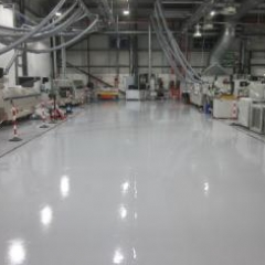Seamless epoxy anti static resin flooring system Durham