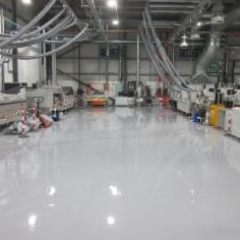 Industrial epoxy resin floor screeds North East England