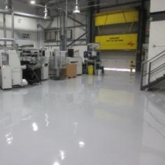 Seamless industrial resin floor screeds North East Uk