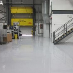 Anti Static resin flooring installation at TRW Peterlee