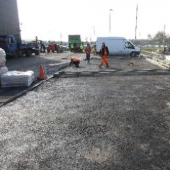 Asphalt substrate at Aston Martin Silverlink Newcastle