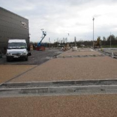 Newcastle Upon Tyne Aston Martin exterior resin floor