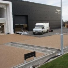 Resin bonded aggregates Aston Martin Newcastle