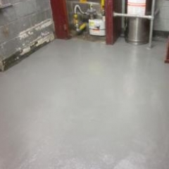 Install epoxy floor screed upon prepared concrete base