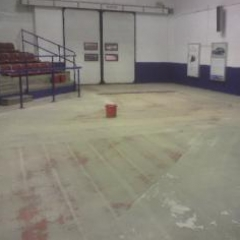 Shotblasted concrete substrate Manheim Auctions
