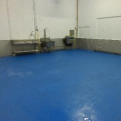 Factory Floor Painting Seaham County Durham